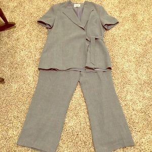 Le Suit Tie-Front Pantsuit